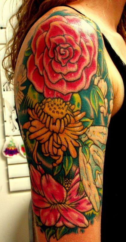 Beautiful Flower Arm Tattoos