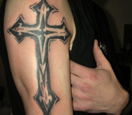 fantasy cross tattooos