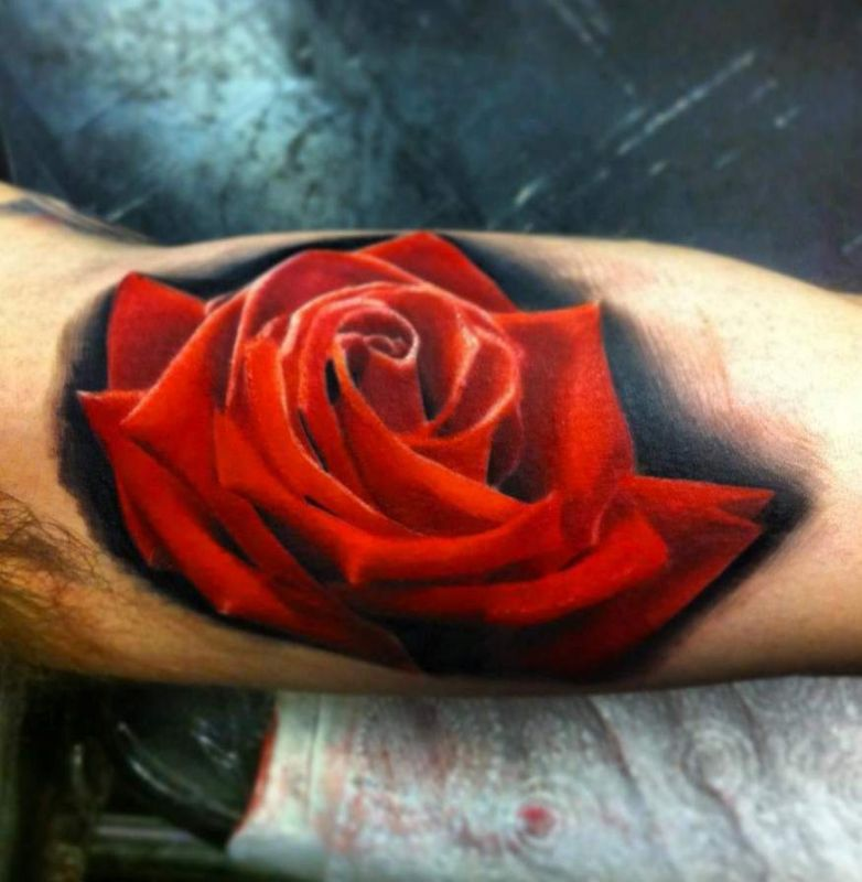 tattoo red rose
