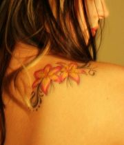 Female Lily Flower Tattoo