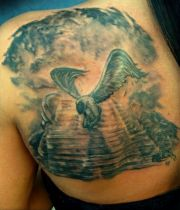 angel heaven tattoo