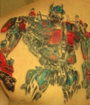 Transformers Optimus Prime Tattoo