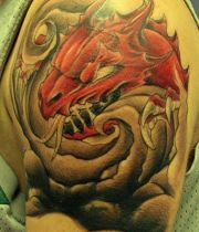 red dragons tattoos