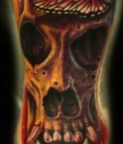 skull arm tattoo
