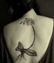 tattoo flower back