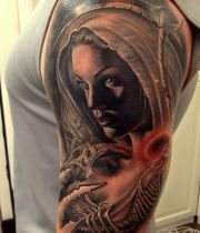 tattoo shoulder angel